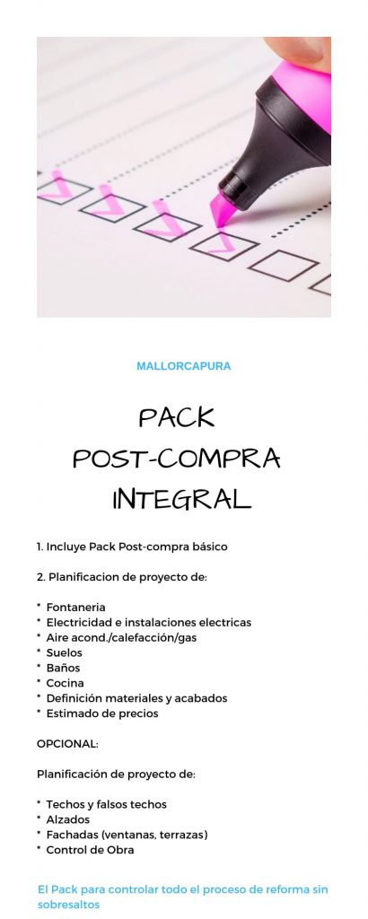 pack post compra integral mallorcapura