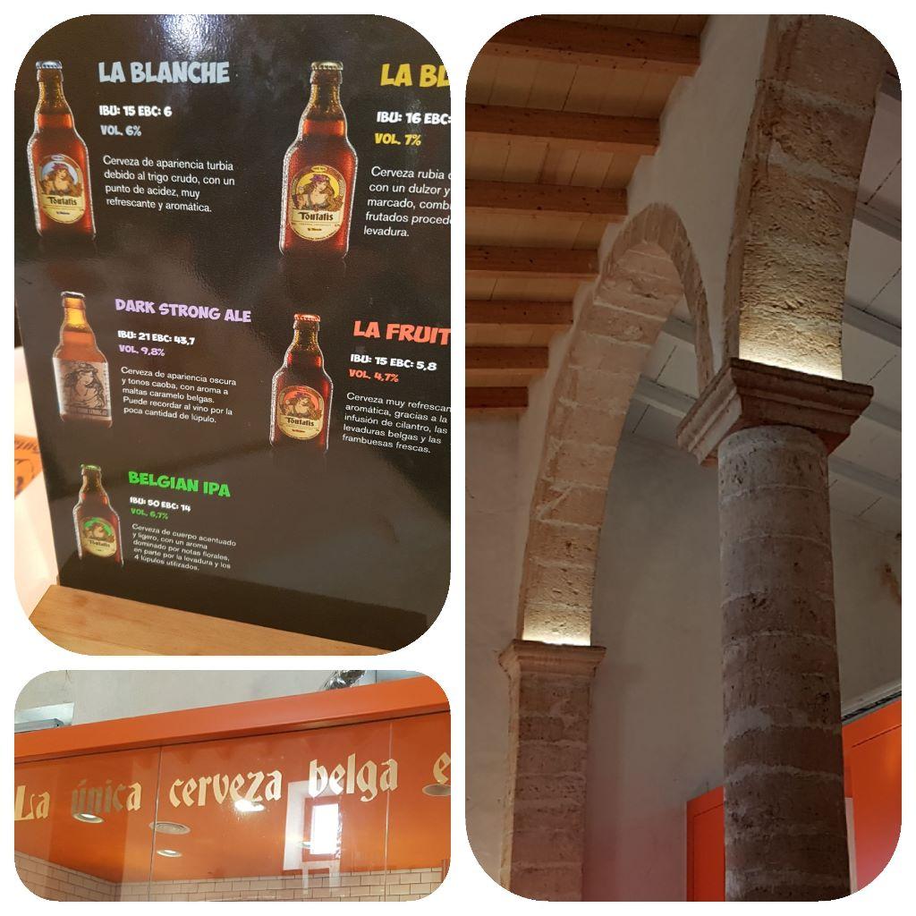 collage cervecería belga Toutatis Mallorca