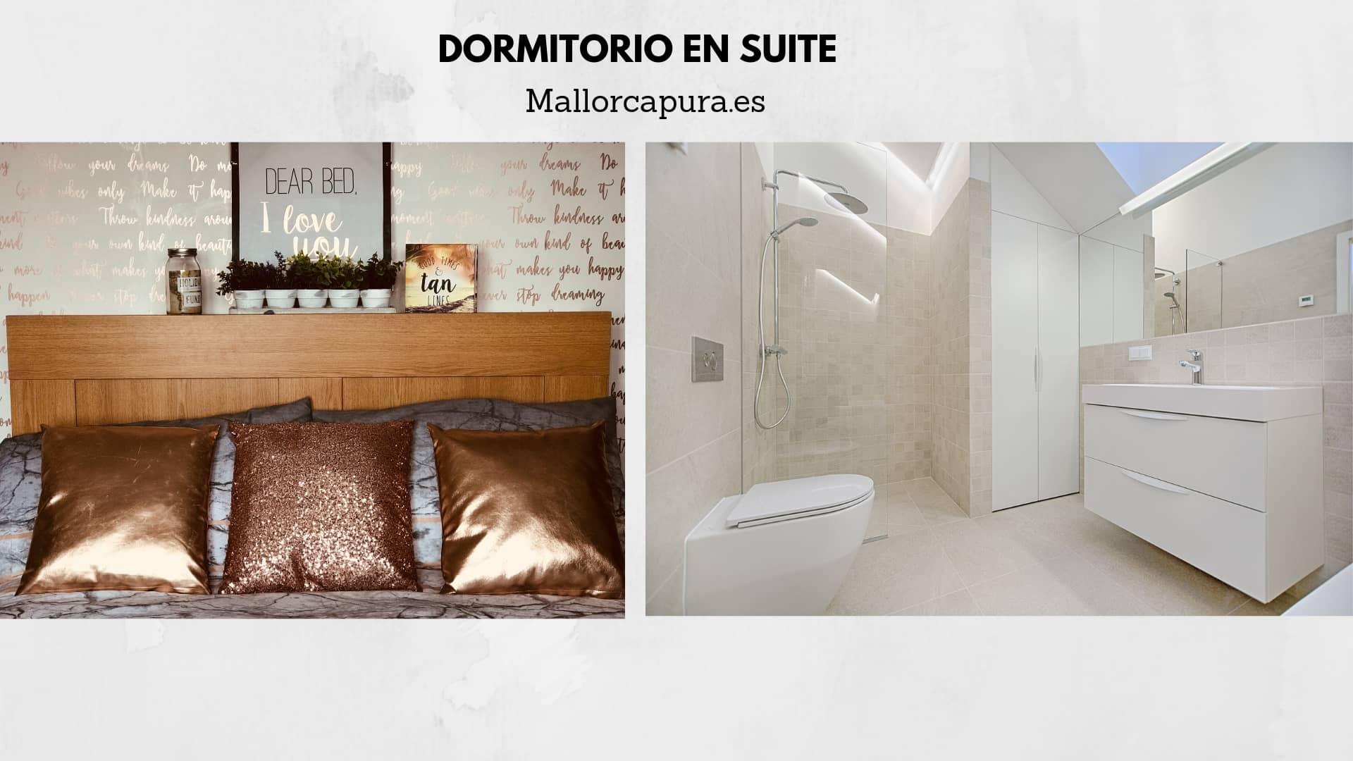 zona dormitorio en suite proyecto Andratx