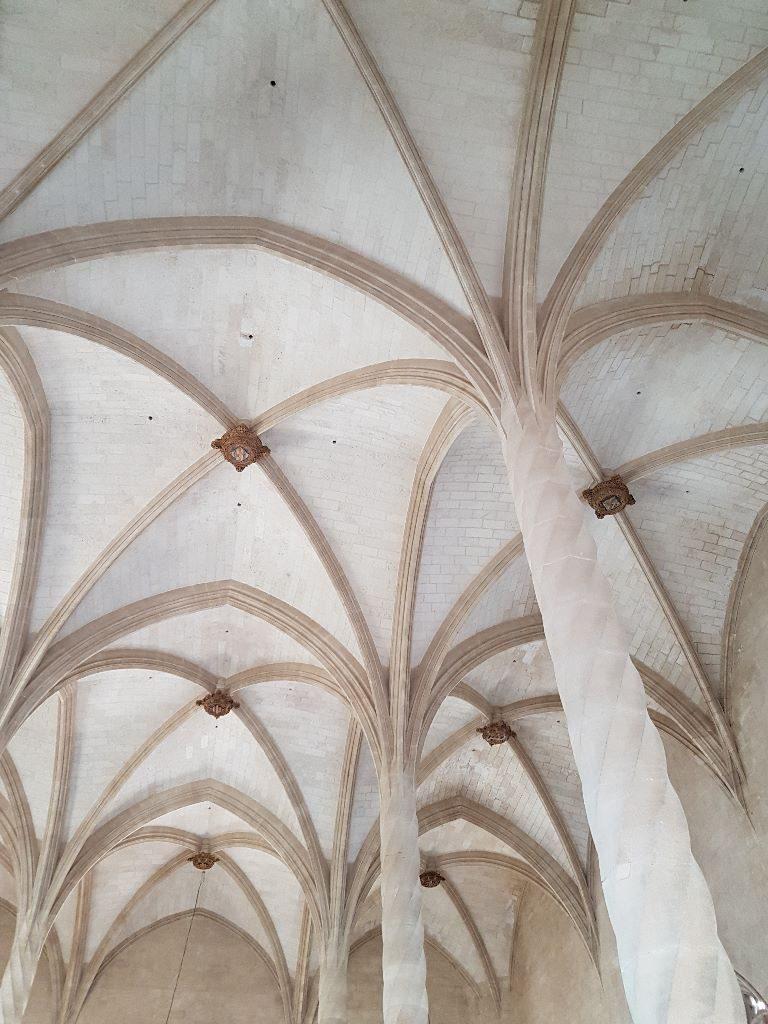 la lonja columnas y techo palma de mallorca