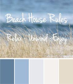 paleta de color coastal decoracion