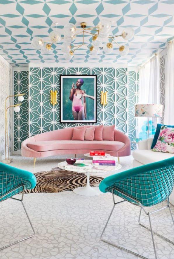 salon estilo mid century