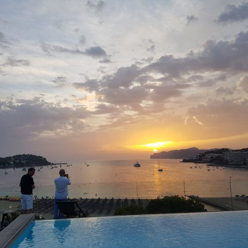 vista de santa ponsa desde hotel del mar