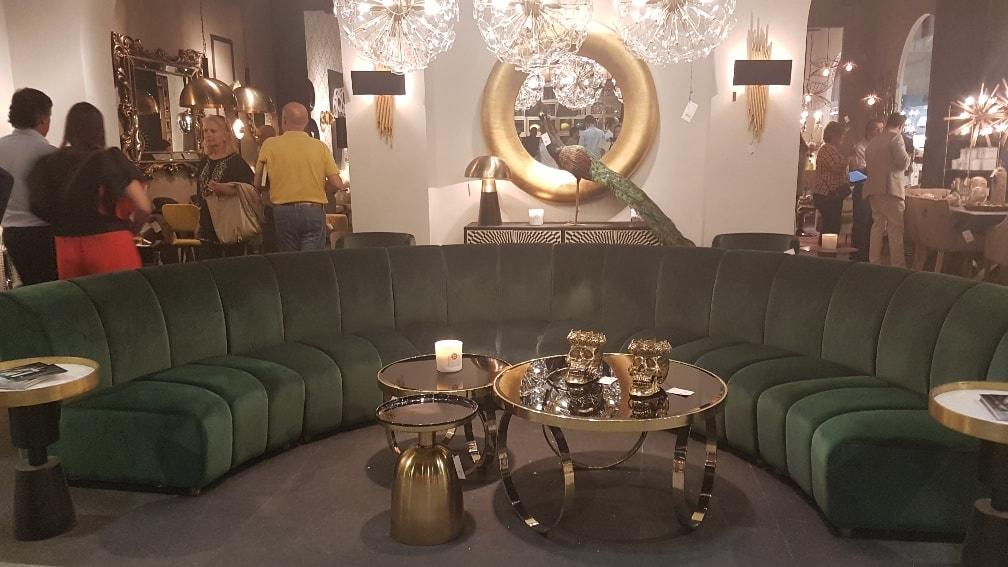 sofa verde vical