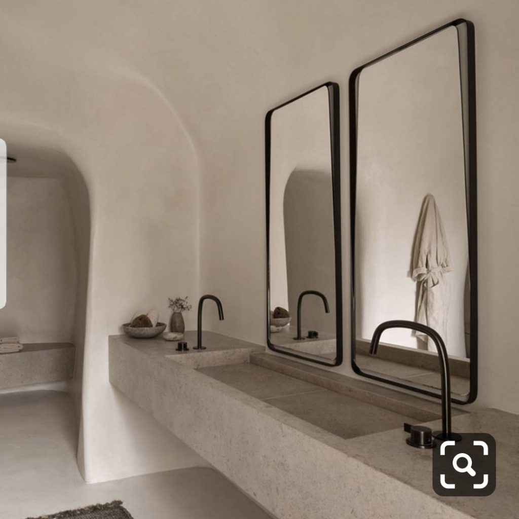 cuarto de baño wabi sabi